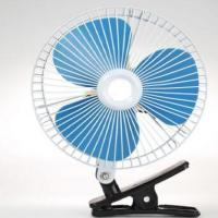 China Plastic Back Guard Car Cooling Fan 8 Inch Oscillating With Customized Color wholesale