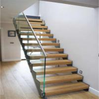 China Double U Channel Stringer Modern Straight Staircase Made in China on sale
