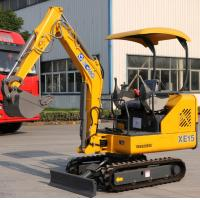 China Strong Power Crawler Hydraulic Excavator 1.5 Tons Digger AC Driving Cab wholesale