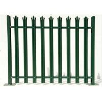 China Durable W Section Green Palisade Fencing , Single Point Road Security Fence wholesale