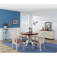 China Mediterranean Style Dining room Furniture by wood table and chairs with Buffet Cabinet in white/blue painting wholesale
