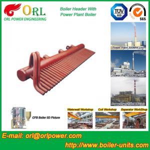 China ASME Standard Low Loss Header Boiler Parts / Boiler Steam Header wholesale
