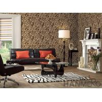 Buy cheap 3D Stone Textured PVC Korea Design Wallpaper 1.06M for Home Office Decoration from wholesalers