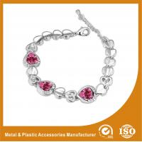 China Gold Plated / Silver Plated Zirconia Jewellery Bracelets For Lover Gift wholesale