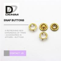 China Fancy Gold Brass 16L Prong Snap Buttons on sale