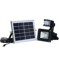 China Outdoor 10W Solar Powered LED Security Flood Light With PIR Motion Sensor wholesale