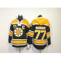 Quality NHL Boston Bruins 77 Ray Bourque Black Hoodies Jersey Old Time Hockey for sale