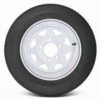 China Tire Assembly, KT 4.80 to 12 Bias Trailer with 12 Inches White Wheel wholesale