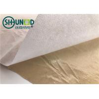 China Eco Friendly Fusible Non Woven Interlining Fabric With Yellow Adhesive Release Paper wholesale