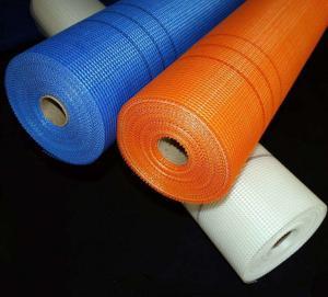 China 4x4mm 153g Alkali Resistant Fiberglass Mesh Roll wholesale