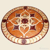 China High End Polished Waterjet Marble Stone Floor Medallions For Hotel / Restaurant wholesale