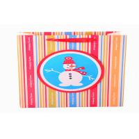 China Multi Colors Striped Holiday Paper Bags In Package , Coloured Paper Party Bags With Handles on sale