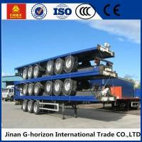 China 3 Axle Flat Bed Semi Trailer ,  Container Semi Trailer with Common Mechanical Suspension 10 wholesale
