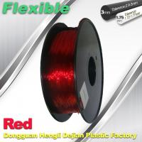 China Professional Eco Friendly Flexible( TPU )  Red 3D Printer Filament 1.75mm wholesale