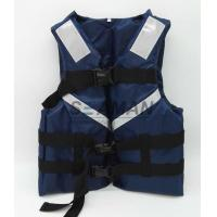 China 300D Oxford Navy Blue Men's Watersports Life Jacket SOLAS Reflective Tape Size S, M, L, XL wholesale