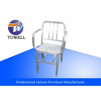 China Durable Rustproof Indoor Aluminum Navy Chairs With Welding Structure wholesale