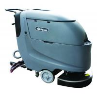 China Dycon Small Electric Floor Scrubber Walk Behind Sweeper Scrubber With Big Mouth Recovery Tank wholesale