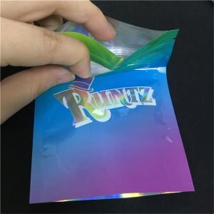 China Durable Zip Lock Plastic Bags Runtz Mylar Cookies Holographic Weed Runtz Bags wholesale