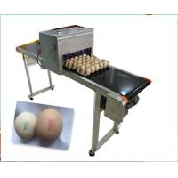 Buy cheap CE ISO Industrial Inkjet Printer , Egg Inkjet Marking Equipment 12v 4a from wholesalers