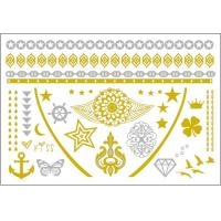 China Girls Sexy Image Gold Removable Tattoos , Long Lasting Body Tattoo Sticker wholesale