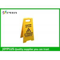 China Yellow Plastic Caution Sign Board / Portable Sign Stands Eco Friendly 62x30cm wholesale