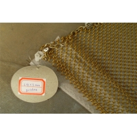 China Aluminum Chain Link 1.2mm Metal Mesh Drapery For Space Divider wholesale