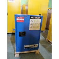China Blue Corrosive Chemical Acid Storage Cabinet Flammable Locker Single Door on sale
