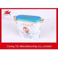 China Embossed Oval Metal Tea Tins Box wholesale