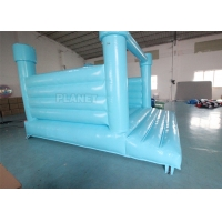 China PVC Material Inflatable Bouncy Jumping Castle Blue Slide Commercial Castle Inflatable Kids Bounce House wholesale