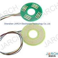 China 360 ° Rotating PCB Slip Ring Ultra Thin 6mm With Silver Plated Copper Lead Wire on sale