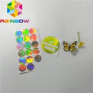 China Adhesive Shrink Sleeve Printing Custom Reflection Rainbow Holographic Stickers Label wholesale
