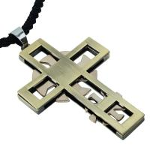 Retro bohemian style antique copper cross Women pendant Men necklace   QNN4001