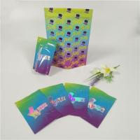 China Plastic Hologram Shiny Resealable Stand Up Pouches Ziplock Runtz Bags Smell Proof wholesale