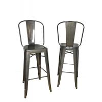 China Comfortable Black Viktor Steel Mental Tolix Chairs With Rust Powder Coat wholesale