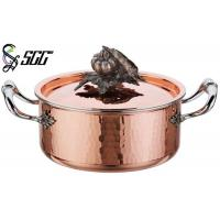 China 18CM Noble Hand Hammered Copper Pots and Pans For Cooking Pot wholesale