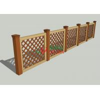 China Garden Deck Railing Wood Plastic Composite Fence 1.1m X 1.32m Barefoot Friendly wholesale