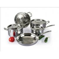 China 5Pcs 3-ply stainless steel cookware set SHCY-3009 on sale