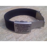 China Shenzhen manufacture unique QR wristband / silicone ID bracelet with metal plate,various color wholesale
