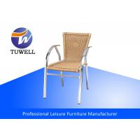 Quality Patio Bamboo Wicker Rattan Chairs For Commercial , Leisure Plastic Chair Outdoor for sale