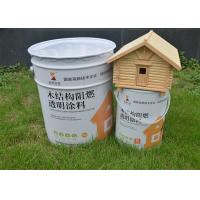 China Colorless Clear Fireproof Clear Intumescent Coating For Wood , Fire Resistant Stain wholesale