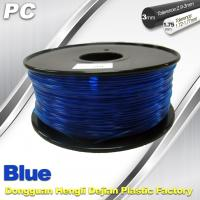 China Blue 3mm Polycarbonate Filament Strength With Toughness1kg / roll PC Flament wholesale