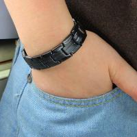 China Hot Selling Black Titanium Wide Magnetic Wrist Band in Mexico Marketing wholesale