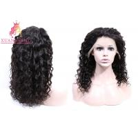 China 360 Lace Frontal Wig Human Hair , Virgin Indian Hair Italian Curly For Women Swiss Lace on sale