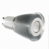 China Aluminum Alloy LED Spotlight, 0.5 to 0.62 Power Factor, CE/TUV Certified, RoHS Directive-compliant wholesale