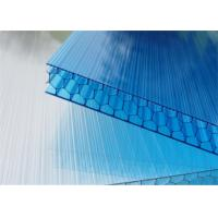 China Cellular 14mm Honeycomb Polycarbonate Sheet With Uv / Weather Resistance wholesale