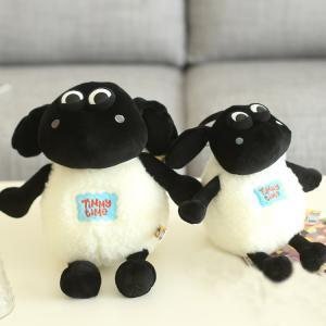 China Cartoon Shaun Sheep Animal Soft Plush Toys Hot Stuffed Black White wholesale