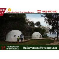 China Luxury Camping Tent Geodesic Dome 6m Diameter 6 - 8 Person With Clear Walls on sale