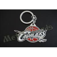 China Unique Custom Logo Metal Key Chains Novelty Keyrings Offset Printing Technique on sale