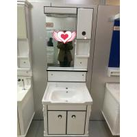 China wall PVC Bathroom Cabinet / Single Bowl Bathroom Vanities with mirror 60cm wholesale