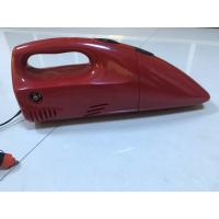 Quality 2 In 1 DC 12V Red And Yellow Fancy Portable Car Vacuum Cleaner For Car With Inflation Fuction for sale